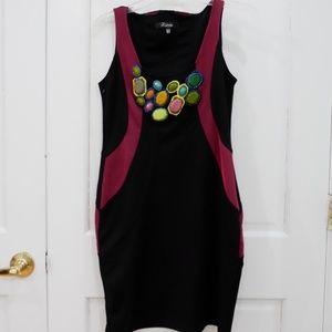 🎉HP🎉 BooHoo Embellished Bodycon Statement Dress